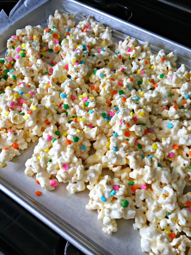 This simple and delicious popcorn recipe is perfect for a special birthday. It will be requested all the time though!