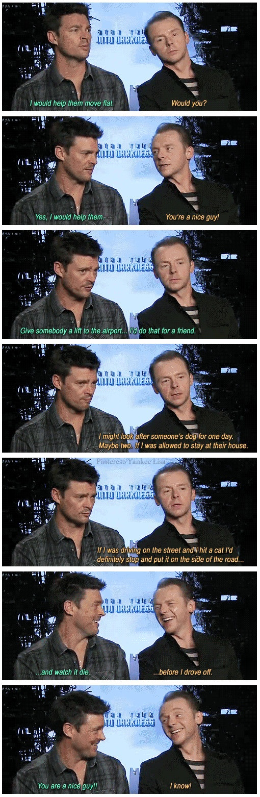 Simon Pegg might be the funniest evil bastard on the planet...