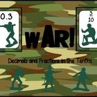 Students practice reading, ordering and comparing fractions and decimals to the tenth with this twist on the card game War.: Fraction Decimals, Classic Card, Students Practice, 3Rd Math, Card Games, Decimals Freebies, Cards, Game War, War Fractions