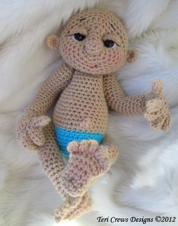 Crochet Doll Pattern Cute : So Cute Baby Doll Crochet Pattern Baby dolls, Dolls and ...