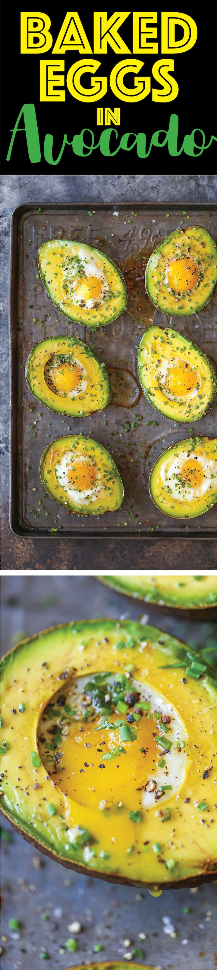 Baked Eggs in Avocado - Who would have thought? You can bake your eggs right in avocado halves for a healthy breakfast option to start your day off right!