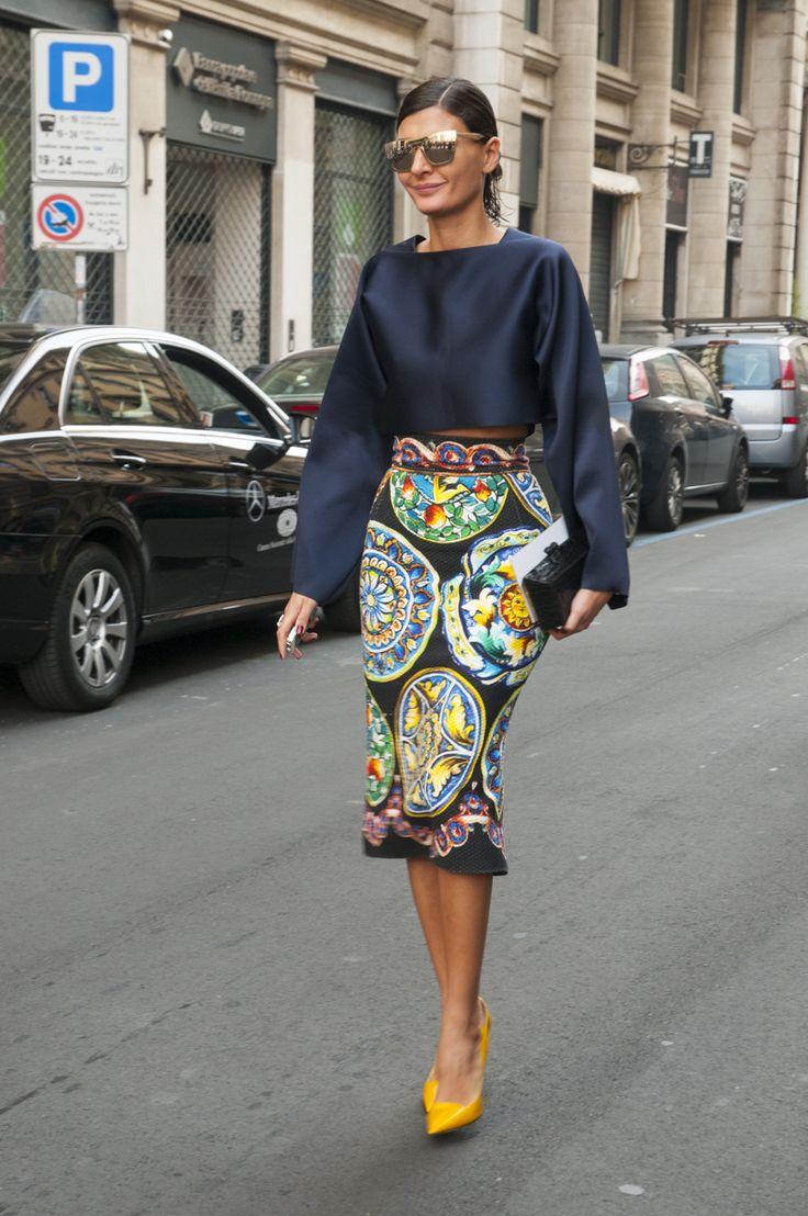 Female Fashion Week SS15 - Sara Battaglia @ Salvatore Ferragamo show #mfw #mfw14 #salvatoreferragamo #fashiontrends #outfitideas