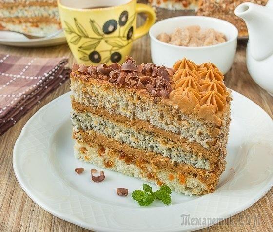"""Торт """"Мудрый еврей""""… или """"Бедный еврей"""". В некоторых вариациях - """"Старый еврей"""". В любом случае, это наша легкая вариация на тему этого классического домашнего торта. Здесь мы заменили содовый кефирны..."""