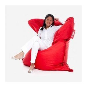 Deze rode zitzak is comfortabel en met afmetingen van 180x140 cm groot genoeg om heerlijk te loungen. www.shopwiki.nl