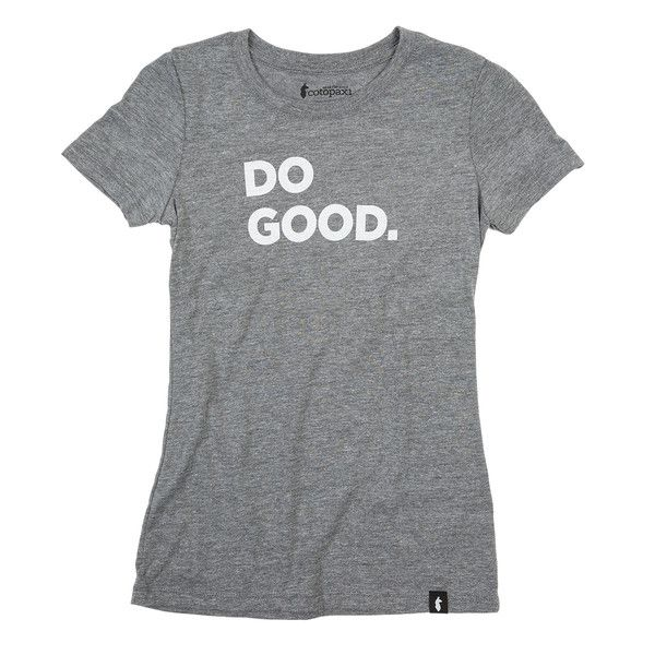 Doing good filters through all aspects of Cotopaxi, so we decided to make the Do Good T-Shirt to spread the word. It's ultra-soft, slightly fitted, and has that broken-in feel, right off the shelf. PR