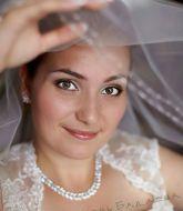 свадебная прическа, свадебный макияж