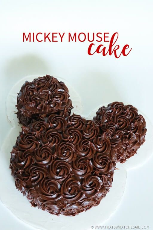 Easy Mickey Mouse Cake