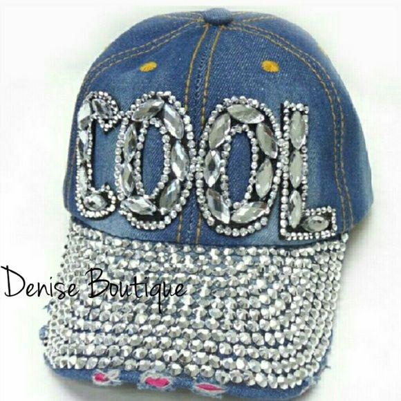 custom denim baseball caps cap american apparel rhinestone boutique brandy melville