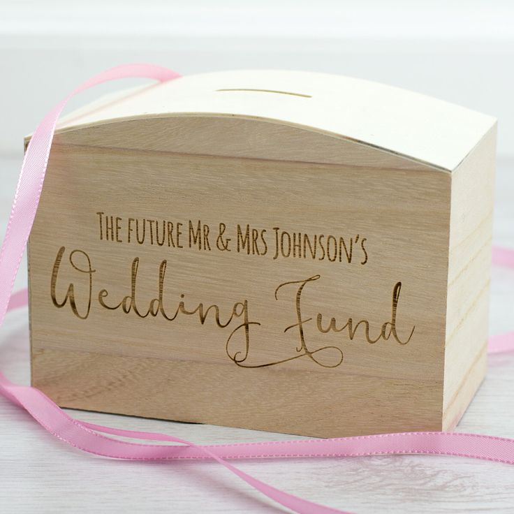 Wedding Money Box - Wedding Fund - Personalised Money Box - Engagement Gifts - Gift For Couple Engagement - Money Bank - Money Box - LC092 by Mirrorin on Etsy https://www.etsy.com/uk/listing/398523373/wedding-money-box-wedding-fund