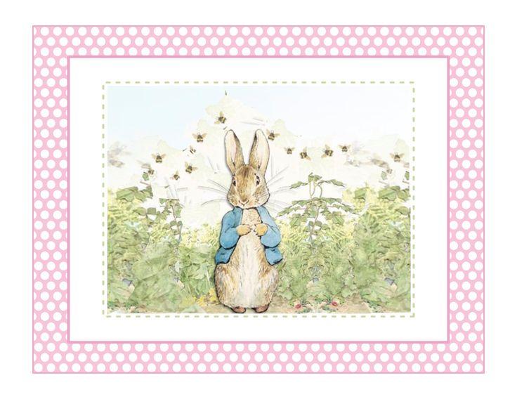 Edible Icing Sheet Pink Peter Rabbit Cake Topper By