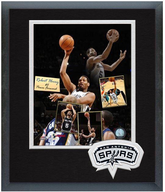 "Robert Horry 2006 San Antonio Spurs- 11"" x 14"" Framed & Matted ""Scrapbook"" Photo"