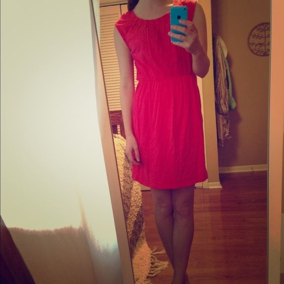 Rose pink dress. Sleek, loose fitted, pink dress. Only worn once. Open to offers! :) LOFT Dresses Midi