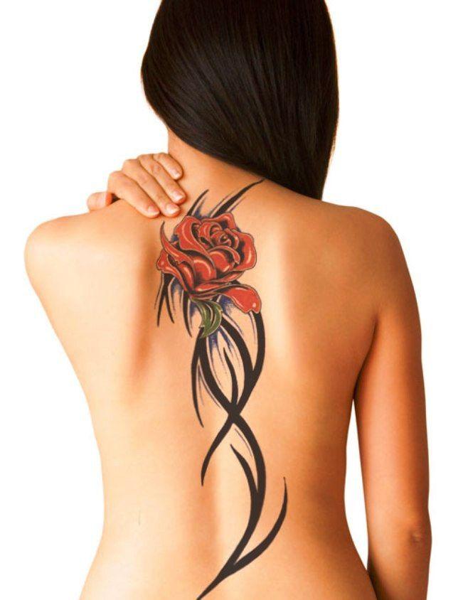 Tattoo on back girl #6