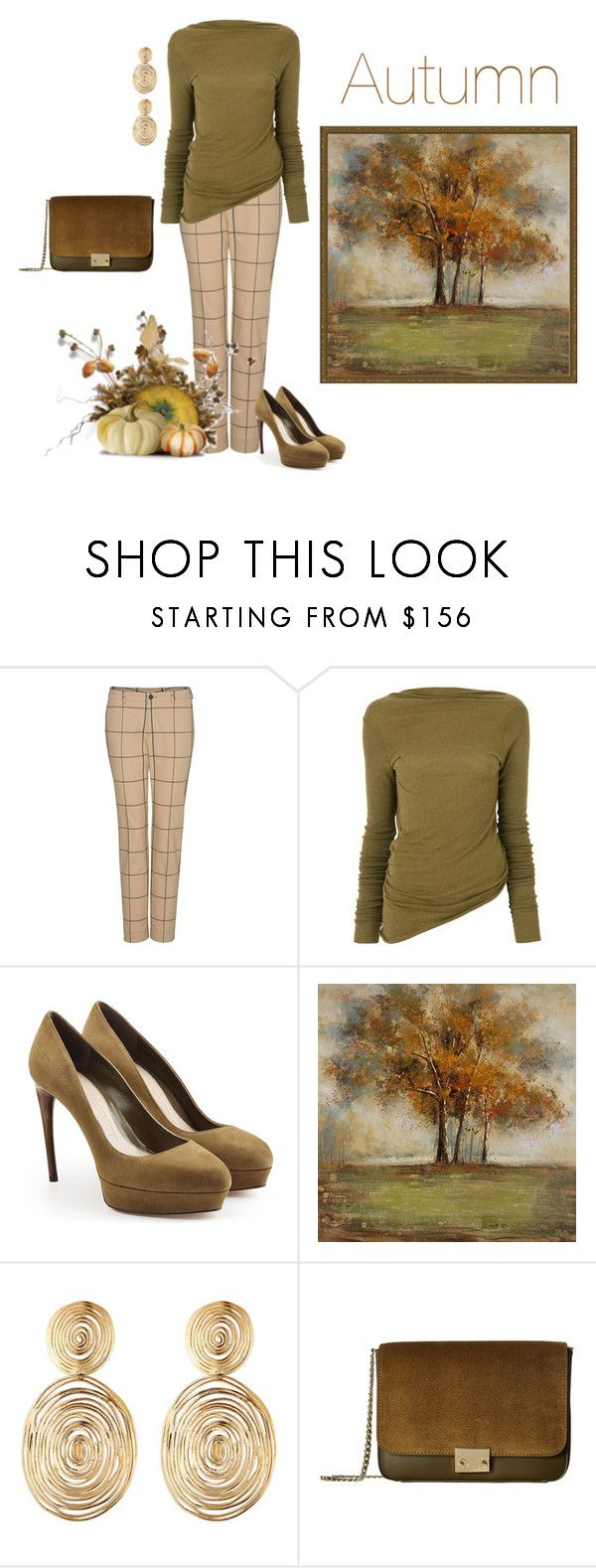 """""""Autumn 🍂"""" by jbeb ❤ liked on Polyvore featuring Rick Owens, Alexander McQueen, Home Decorators Collection, Gas Bijoux and Loeffler Randall"""