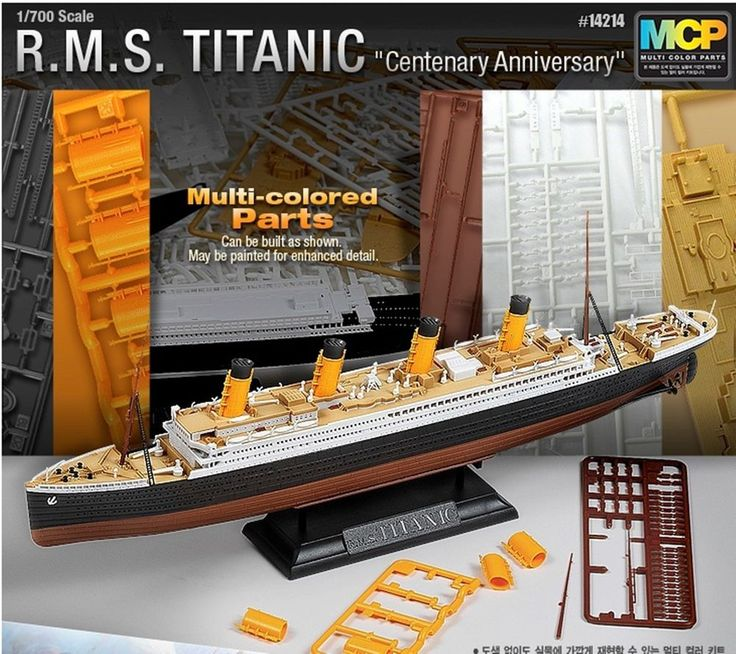 Academy 1/700 R.M.S. TITANIC Multi colored parts plastic model kit #Academy
