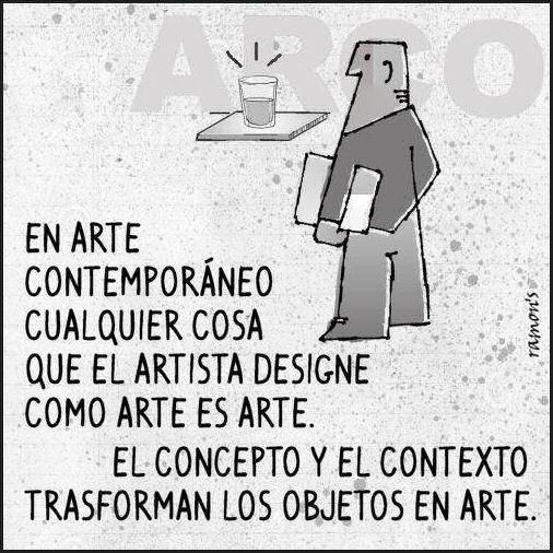 El concepto y el contexto transforman los objetos de arte.