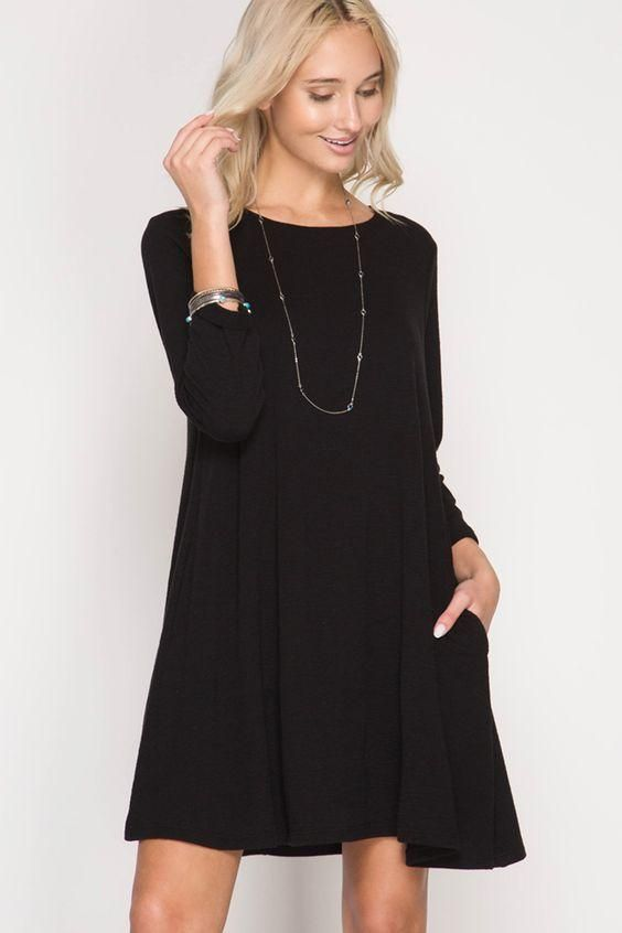 9f114688e6 Gray Swing Thermal T-shirt Dress in 2018