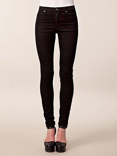 Second Skin Very Stretch Black - Cheap Monday - Svart - Jeans - Klær - Kvinne - Nelly.com