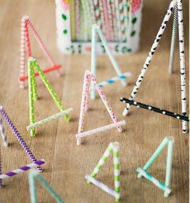 DIY Miniature paper straw easel // Fényképtartó festőállvány szívószálból egyszerűen // Mindy - craft tutorial collection // #crafts #DIY #craftTutorial #tutorial
