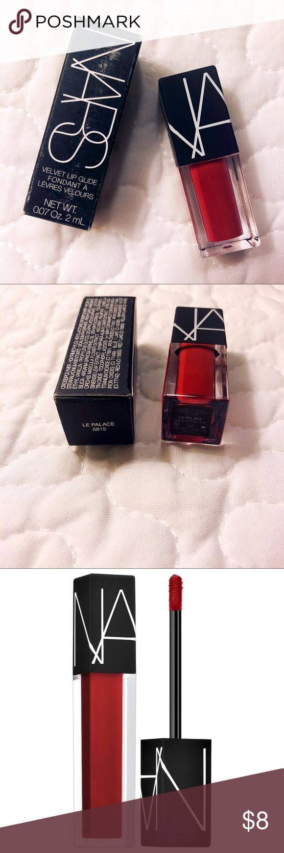 NWT! NARS VELET LIP GLIDE in LE PALACE 5815 NWT! BRAND NEW! NEVER USED! COLOR: LE PALACE - deep cherry red EXP. 01/01/2019 NARS Makeup Lip Balm & Gloss