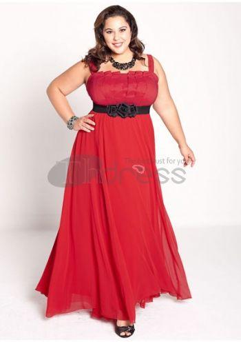 Plus Size Evening Dresses-plus size evening dress Estrella Gown in Red