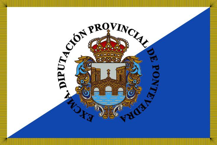 Bandera de la Provincia de Pontevedra.