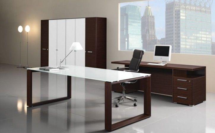 Superbe Arch U2013 Italian Designer Executive Office Desk With A White Glass Top.