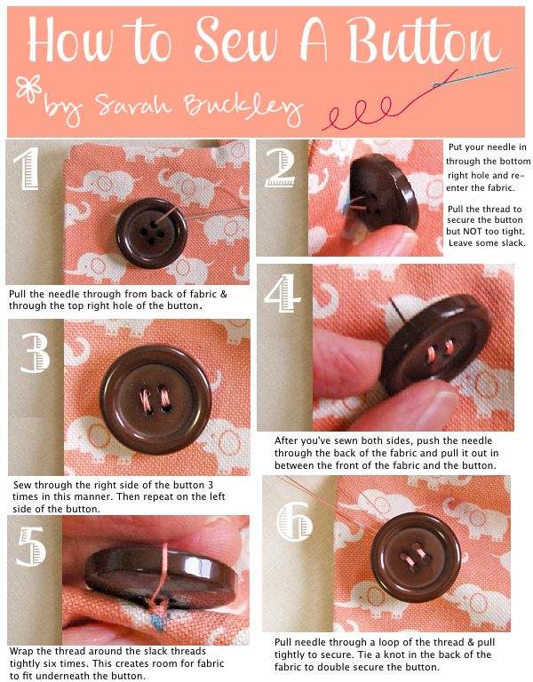 How to sew a button... Quick reference- Devan asked me to sew his button back on just yesterday! I told him I could, but didn't know how long it would last! This will help.