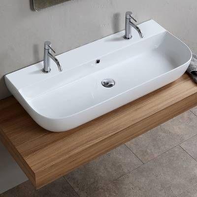 Fireclay Rectangular Vessel Bathroom Sink – #Bathr…