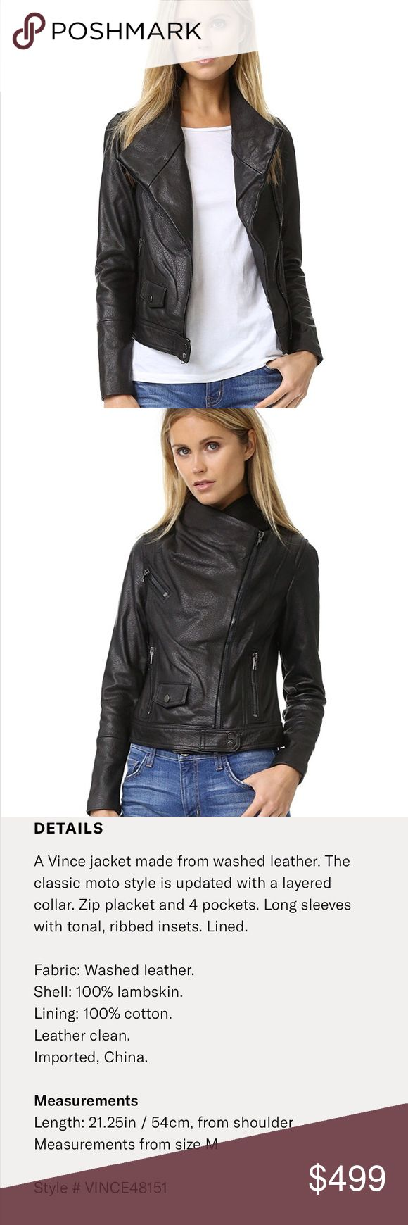 Vince scuba lambskin leather jacket mockneck Size Small. Super soft lambskin leather  Great condition Vince Jackets & Coats