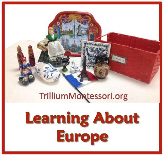 Montessori Continent Box for Europe from Trillium Montessori