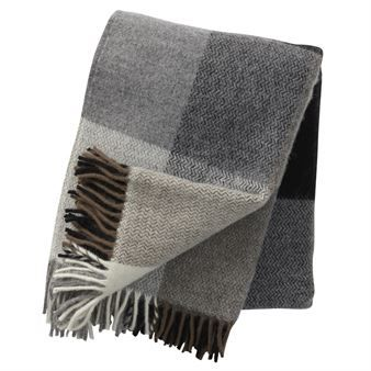Inez throw - grey - Klippan Yllefabrik