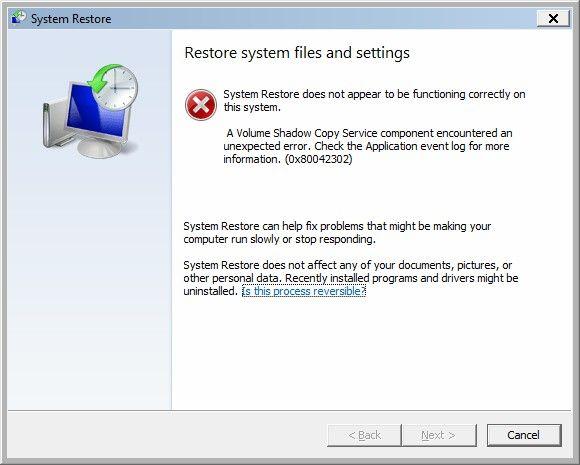 Quick Fix Volume Shadow Copy Service Errors For Windows 10 8 7