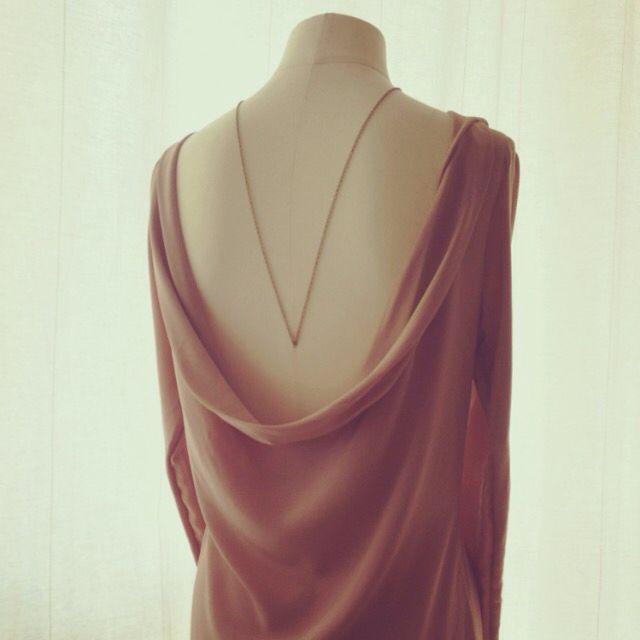 Maison M'anam silk cowl back drape dress