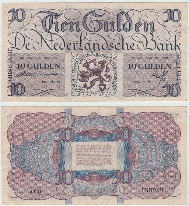 Tien gulden mei 1945