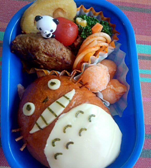 6回目(6月)息子のお弁当♪ トトロのサンドイッチで♪ 中身はハムとチーズ!(^^)! - 4件のもぐもぐ - 幼稚園お弁当(年少) by TSUKI