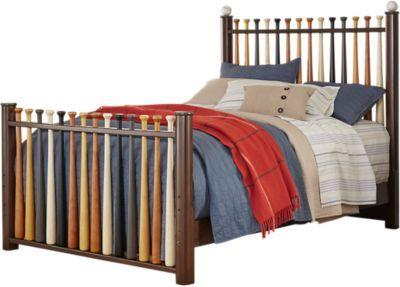 Batter Up Cherry 2 Pc Full Baseball Bed