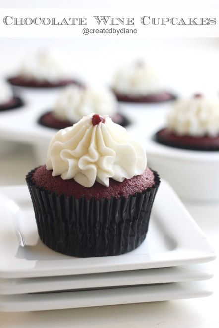 Chocolate Red Wine Cupcakes