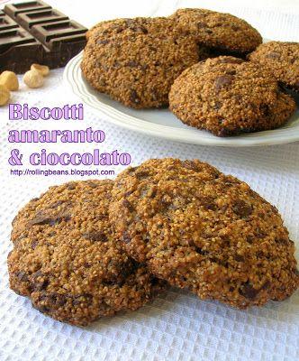 Rollingbeans: Biscotti con amaranto e cioccolato (ricetta vegana)