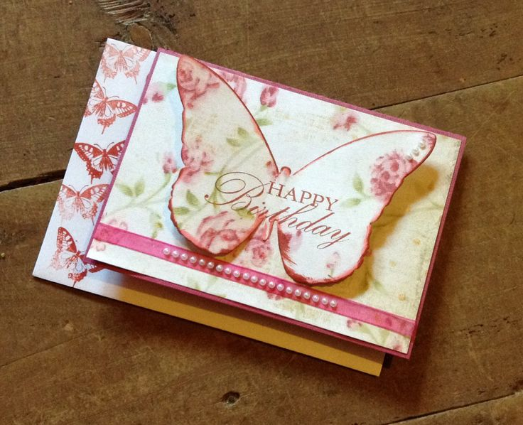 Kaszazz Butter fly Card. Made by Carolyn Shaw.