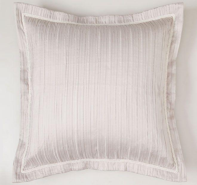Monaco Mink DAVINCI  Features: 100% Polyester Woven pintuck fabric on front and reverse Ivory plait braid trim Tailored flange  Dimensions: x1 European Pillowcase - 65cm x 65cm - #pillowcases