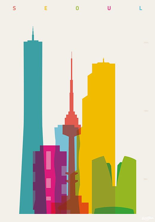 Shapes of cities – Silhouettes of cities around the world (image)