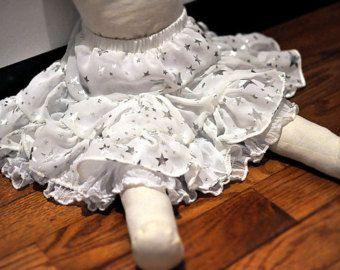 Sliver Star White chiffon Ruffle Skirt - Toddler Free size (SIZE FREE 2T -5T)