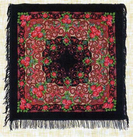 Pavlovo Posad shawl called Fortune Bird