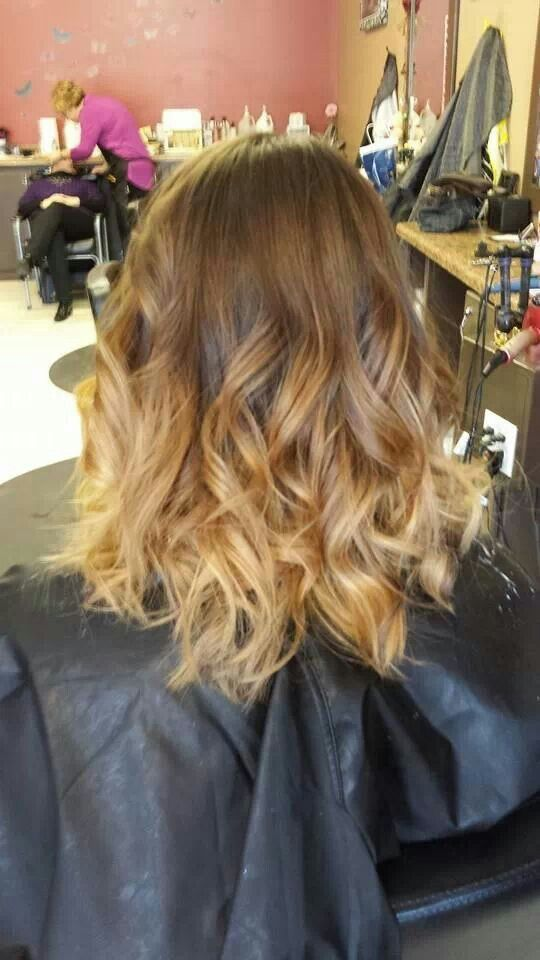 Ombre Hair Medium Length Highlights Inspiration