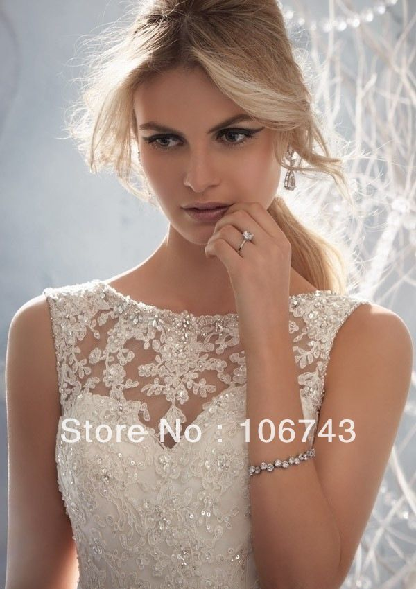 free shipping 2014 new style ballgown sexy lace bride dress sweet princess Custom plus wedding gowns wedding dress debutante US $159.00