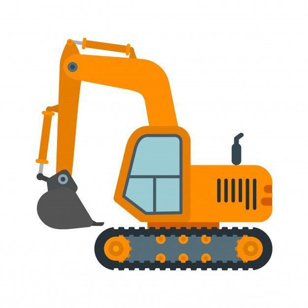Maquinaria Pesada Excavadora Vector Prem Premium Vector Freepik Vector Icono Edificio Co Fiesta De Coche Cumpleanos De Construccion Organizar Fiestas