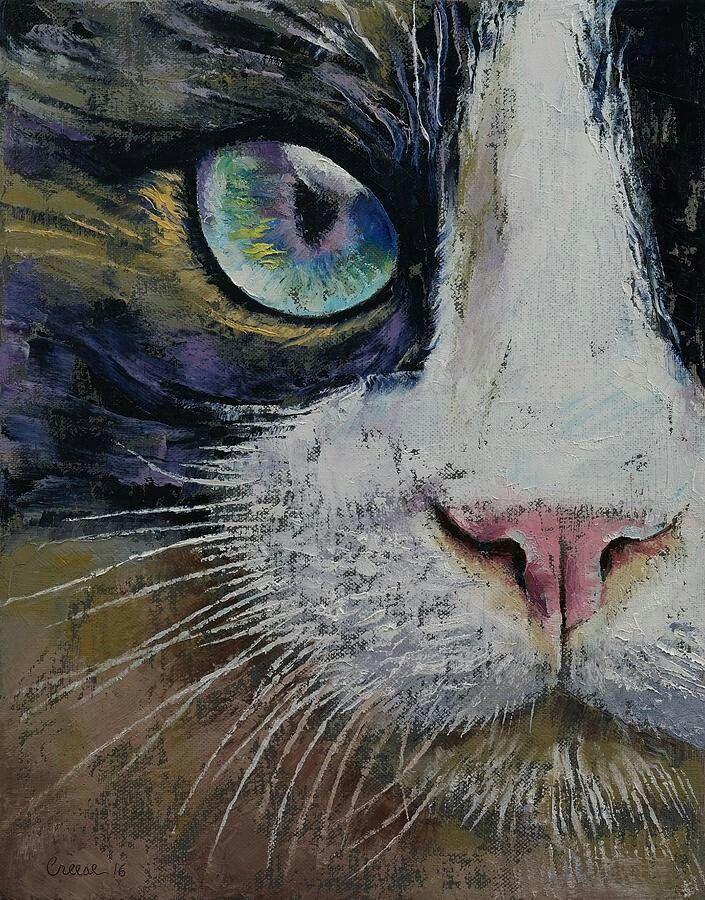 Pin Von Helga Sorensen Auf Aquarelle Und Acryl Bilder Katze