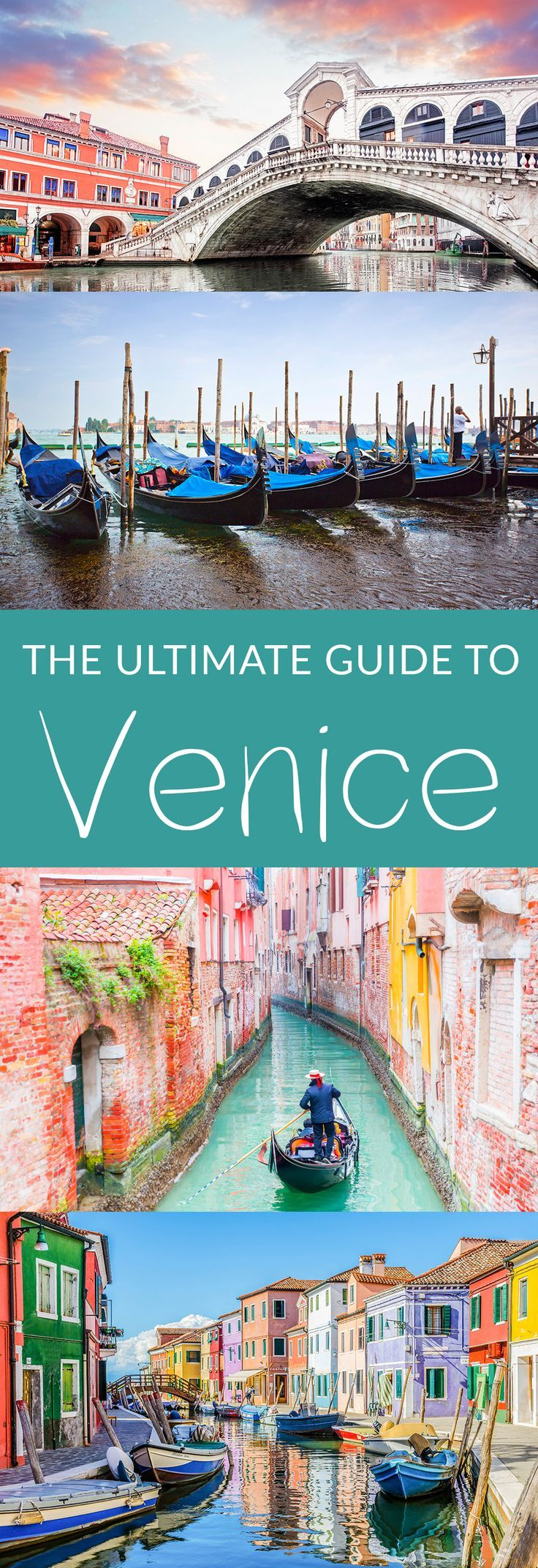 The Ultimate Guide to Venice. Everything you need to know about visiting the city on the water. What to do, when to go, what to bring and where to stay. #Venice #Italy #travel