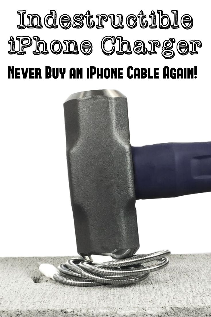 Indestructible iPhone Charger - Never Buy an iPhone Cable Again - This Fuse Chicken Titan iPhone cable is the BEST iPhone charger I've ever used. Get one for every iPhone owner on your Christmas list! Pin for later.